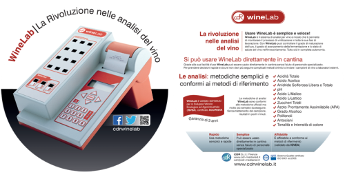 Enoforum2013: brochure caratterisiche winelab winelab