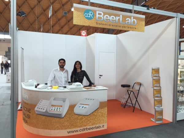 Lo stand di CDR BeerLab a BeerAttraction, Rimini