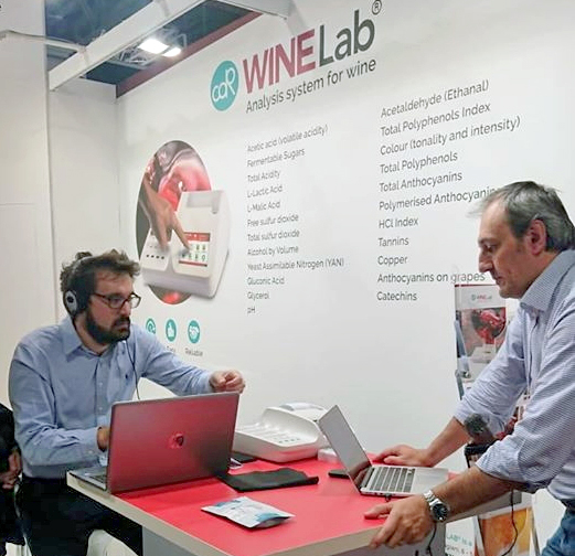 Webinar at CDR WineLab® booth held by Vinidea.